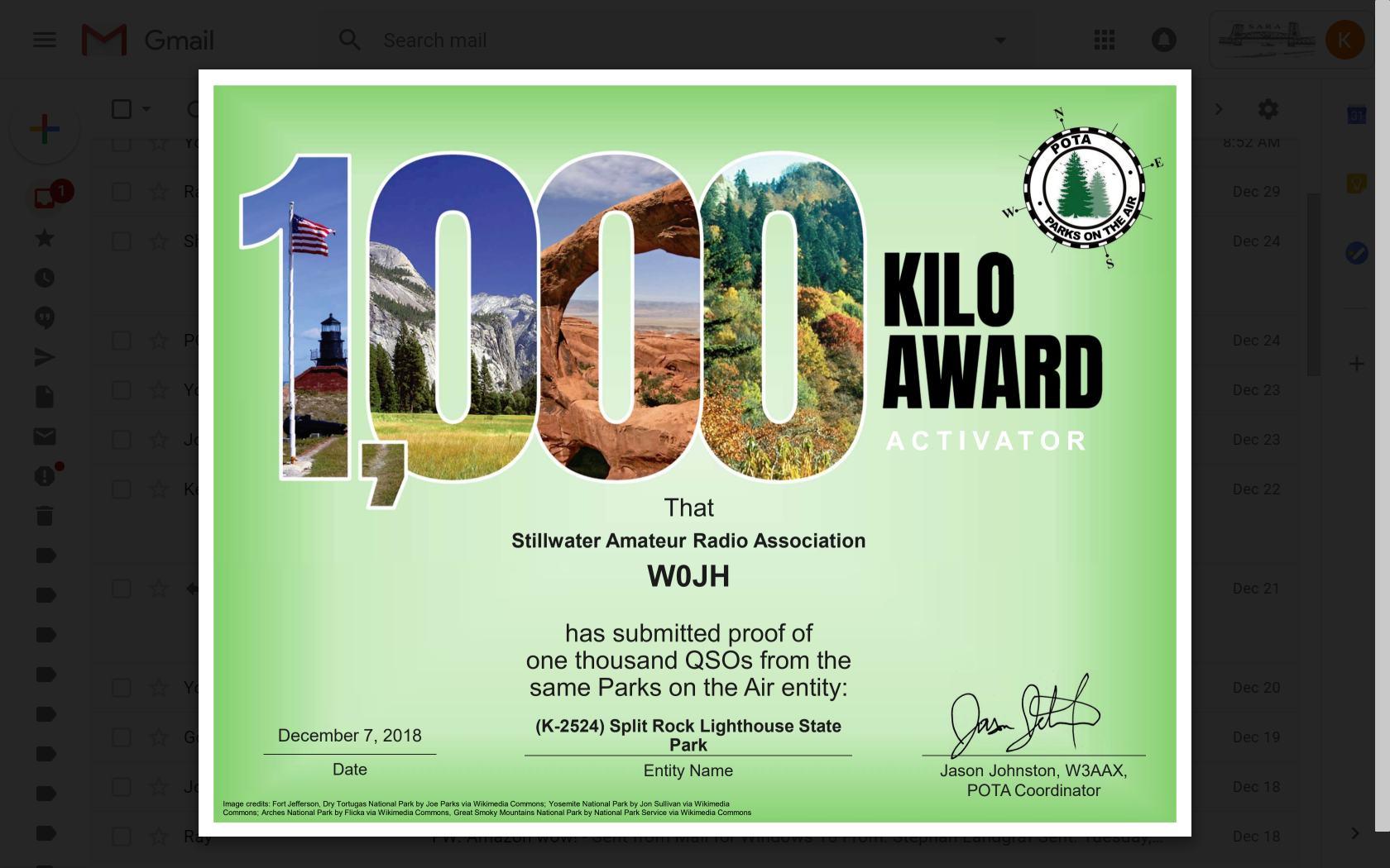 Kilo Parks Award