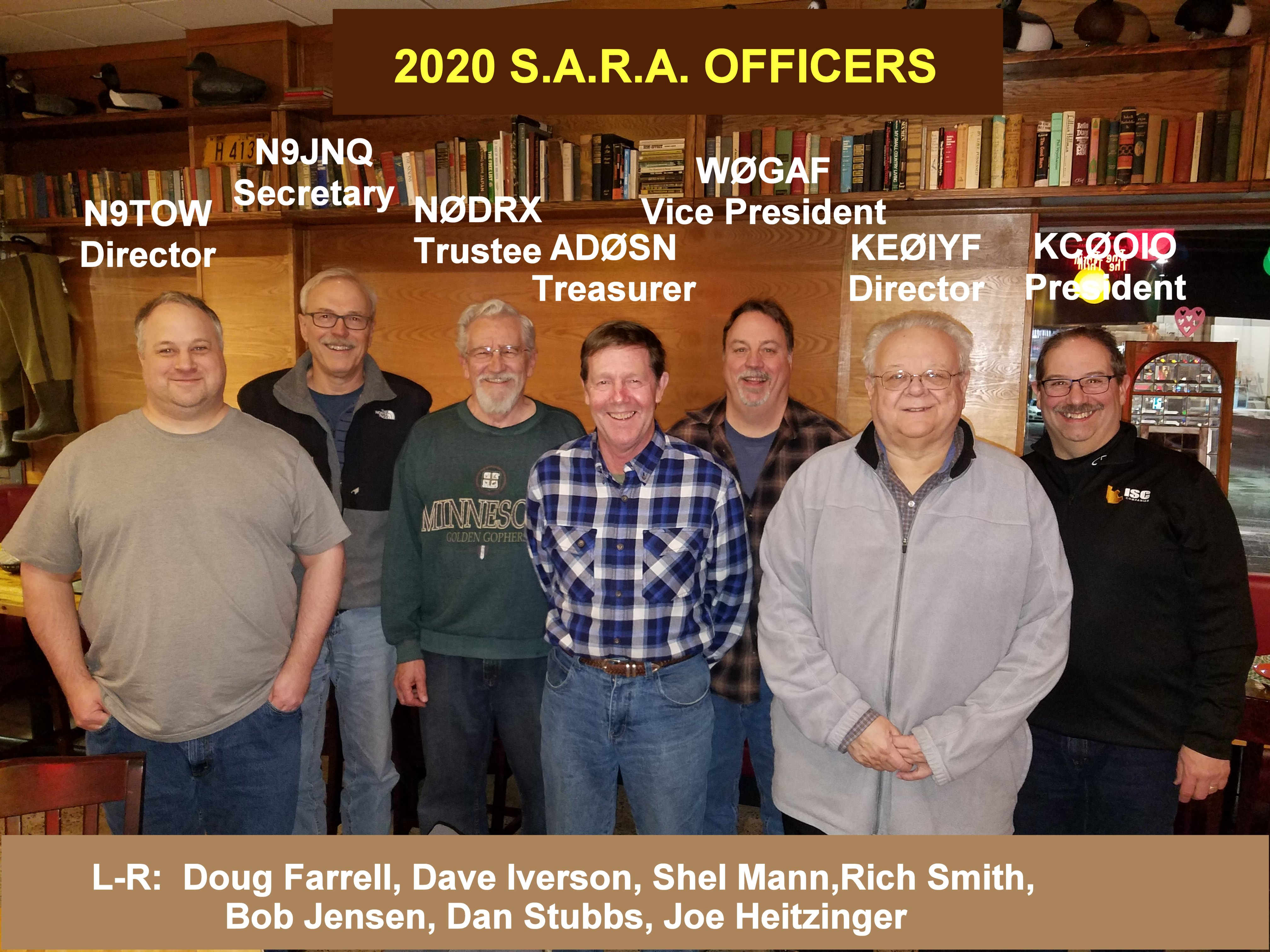 2020 S.A.R.A. EXECUTIVE OFFICERS